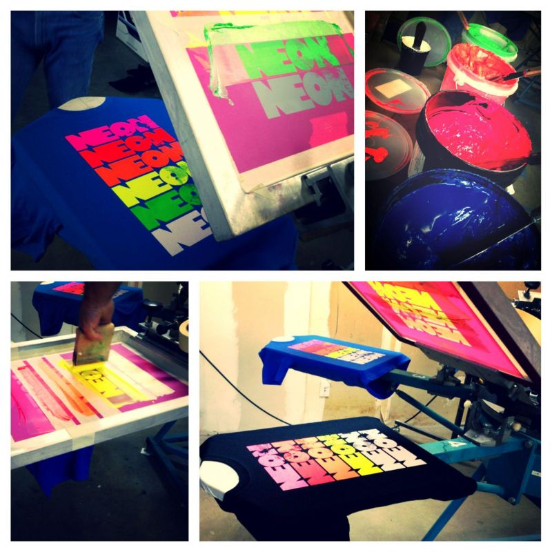 Neon Screen Printing Inks